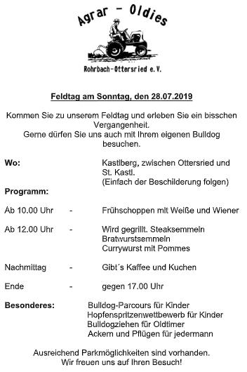 Feldtag 2019